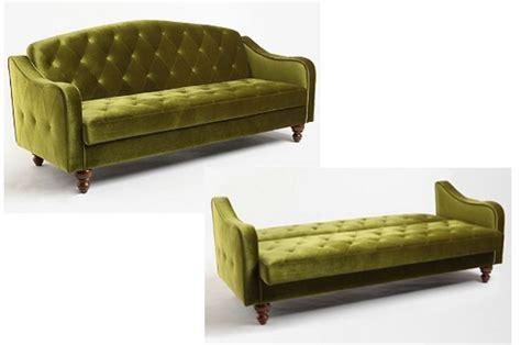 Retro Sleeper Sofa by Green Velvet Sofa Bed Tufted Futon Sleeper