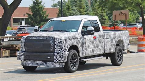 ford super duty spied   construction zone