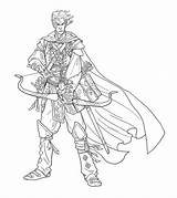 Elf Bard Drawing Illustrations Nelson Jim Paizo Bards Character Am December sketch template