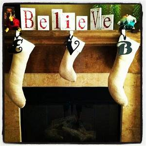 burlap stockings with metal letters from hobby lobby With metal stocking letters