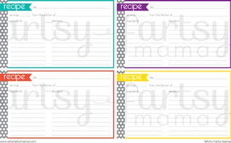 printable recipe cards home cooking memories