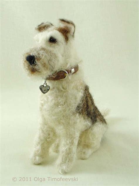 arnold arnie wire fox terrier needle felted figurine