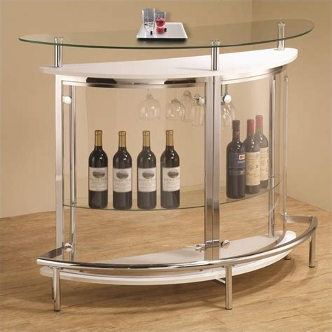 Contemporary Home Bar by Coaster Contemporary Home Bar Unit With Clear Acrylic