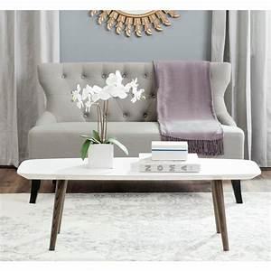 safavieh josiah white dark brown retro mid century lacquer With white and dark brown coffee table