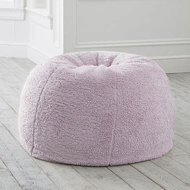 cozy sherpa iris bean bag chair pottery barn teen