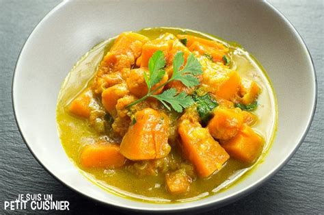 cuisiner la courge recette de curry de courge au lait de coco