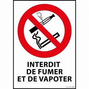 Panneau Interdiction De Fumer : panneau interdiction de fumer et vapoter s curinorme ~ Melissatoandfro.com Idées de Décoration
