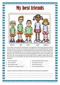 friends comparatives  superlatives worksheet