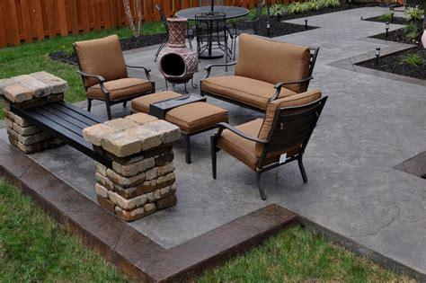 back yard concrete designs patio ideas simple