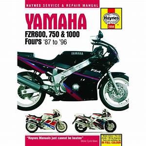 Aw Motorcycle Parts  Workshop Manual Yamaha Fzr600  Fzr750  Owo1   Fzr1000  Exup 1987