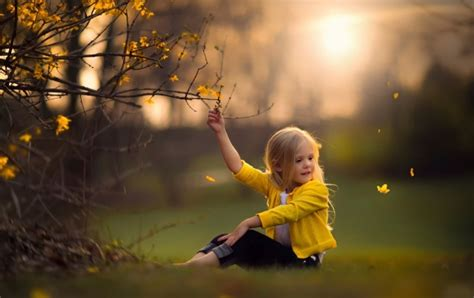 Children Girl Nature Spring Wallpapers