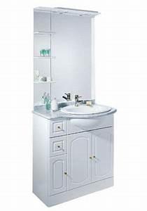 Meuble Salle De Bain Marbre : meuble de salle de bains marbre blanc 80 cm rimini castorama ~ Teatrodelosmanantiales.com Idées de Décoration
