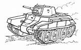 Tank Coloring Pages Tanks sketch template
