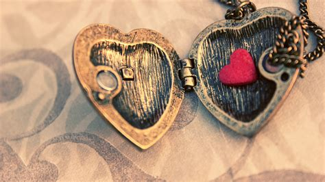 full hd wallpaper medallion heart romantic desktop