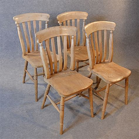 antique kitchen dining chairs set  quality victorian elm