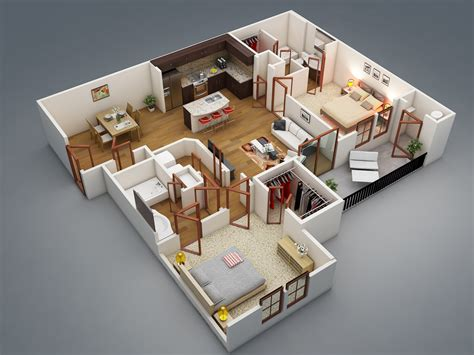2 bedroom homes 50 two quot 2 quot bedroom apartment house plans architecture design