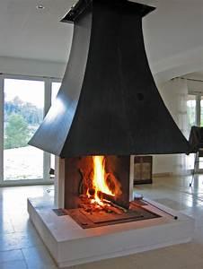 Cheminée à Foyer Ouvert : cheminee foyer ouvert en pierre ~ Premium-room.com Idées de Décoration