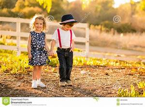 Boy and Girl holding hands stock photo. Image of love ...