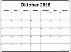 Oktober 2018 kalender kalender 2018