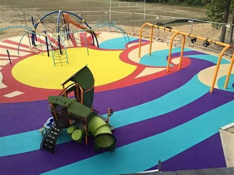 Poured Rubber Flooring For Playgrounds by Poured In Place Rubber Playground Surfacing Pro