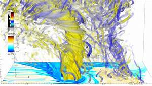 20 Meter Simulation Of Multiple-vortex Ef5 Tornado Embedded Within Its Parent Supercell