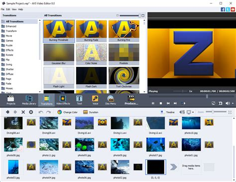 AVS Video Editor - easy video editing software for Windows.