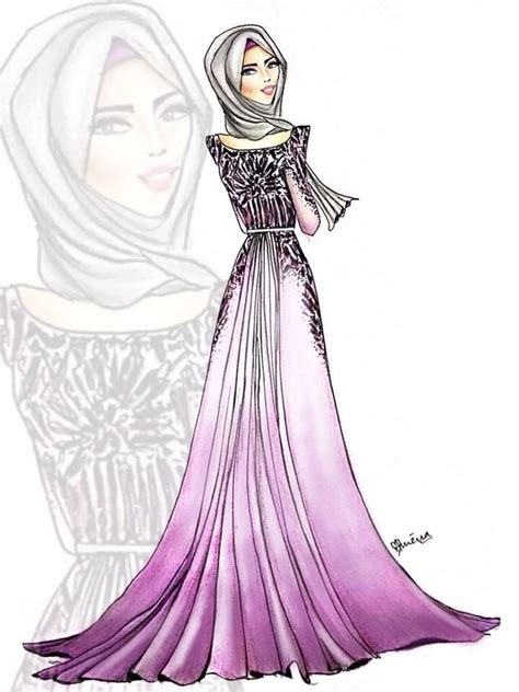 hijab fashion illustration fashion illustration