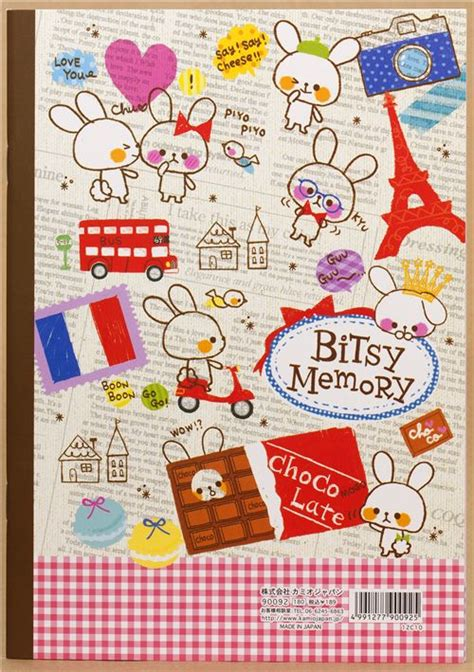 cute mouse notepad  french theme  japan memo