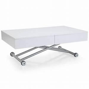 Table Basse Relevable Blanche : tables relevables tables et chaises table basse relevable albatros blanche extensible 8 ~ Teatrodelosmanantiales.com Idées de Décoration
