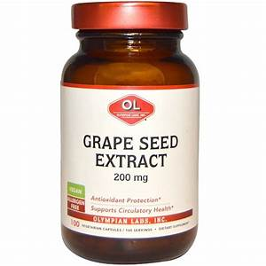 Olympian Labs Inc   Grape Seed Extract  200 Mg  100 Vegetarian Capsules