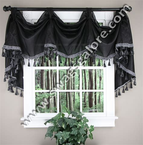 kitchen curtains valances and swags serenity victory valance burgundy jabot swag kitchen