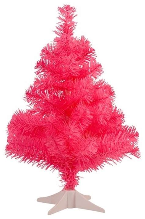 small plastic christmas tree pink eclectic christmas