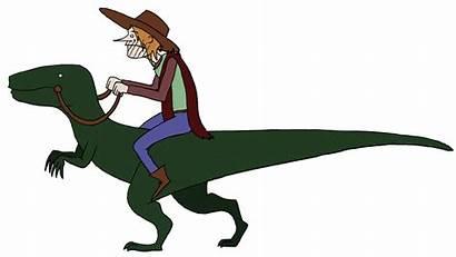 Dinosaur Dinosaurs Animation Cowboys Cycle Walk Clipart