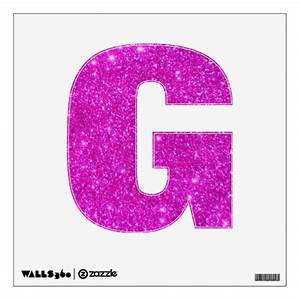 pink glitter sparkle wall decal letters glittery g zazzle With pink glitter letters