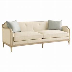 audrey french country ivory upholstered tufted sofa With tufted upholstered sectional sofa