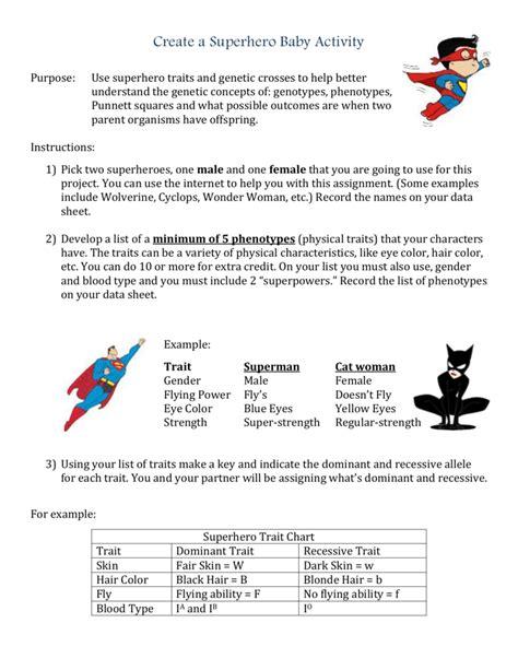 Eye Color Punnett Square Worksheets