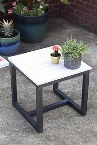 diy outdoor side table pottery barn knockoff With barn wood patio table