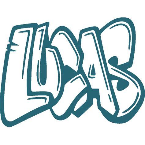 Tag Chambre Ado - stickers lucas graffiti 2 stick