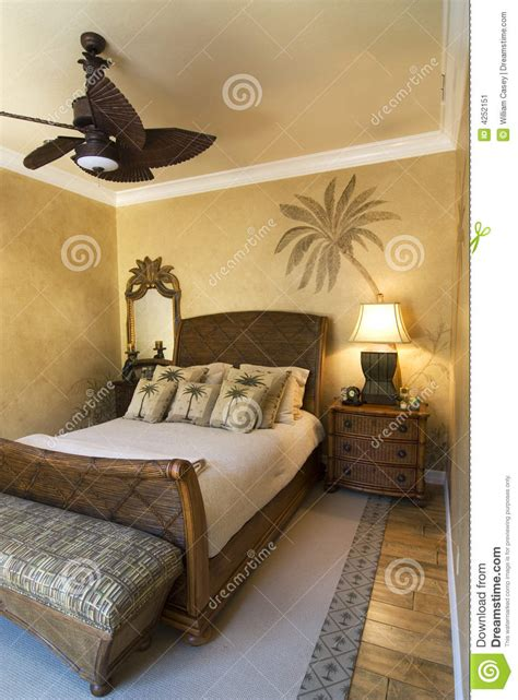 palm tree bedroom stock image image 4252151