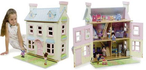 wooden dolls houses traditional lavender  baytree