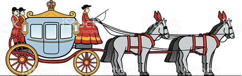 royal carriage  horses stock vector art