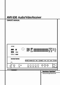 Harman Kardon Avr 630  Serv Man9  User Guide    Operation