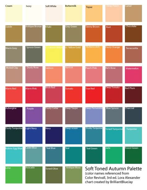 autumn color names soft autumn color palette bing images