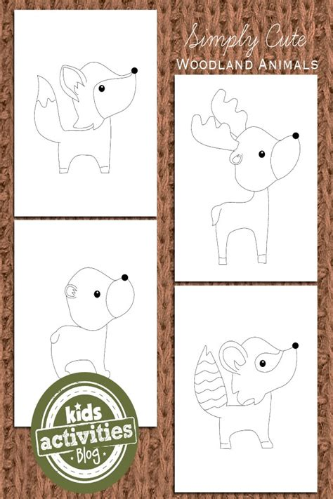 adorable woodland animal coloring pages  kids kids activities
