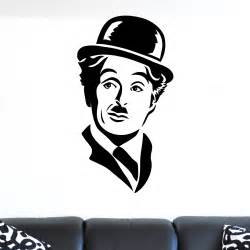 Orange And Black Bathroom by Charlie Chaplin Face Portrait Wall Sticker World Of Wall