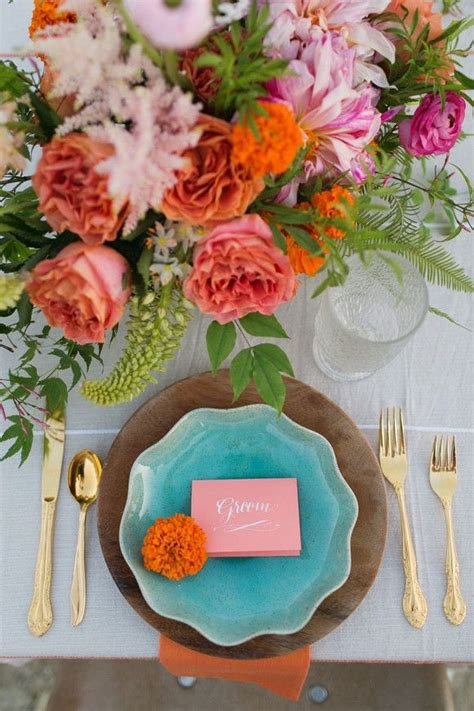 awesome teal color scheme  fall decor ideas trending decoration wedding table settings