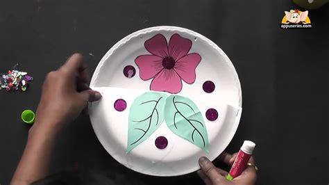 flower basket arts crafts  hindi youtube