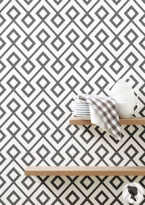 large triangle pattern wallpaper removable   woven