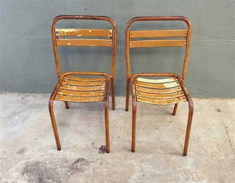 chaise bistrot metal paire chaises bistrot métal style tolix