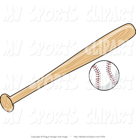 Baseball Bat and Ball Clip Art
